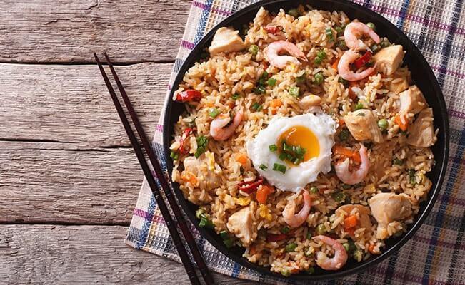Nasi Goreng Sehat dengan Udang Madu Kedelai